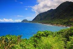 Beautiful sea coast line in east Taiwan Royalty Free Stock Photos