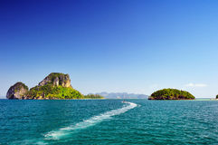 Beautiful sea with crystal clear blue waters of the Andaman sea Royalty Free Stock Image