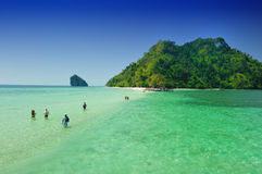 Beautiful sea with crystal clear blue waters of the Andaman sea Royalty Free Stock Photo