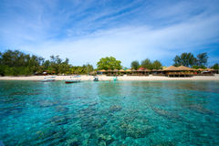 Beautiful sea at Gili Meno, Indonesia. Royalty Free Stock Images