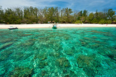 Beautiful sea at Gili Meno, Indonesia. Royalty Free Stock Image
