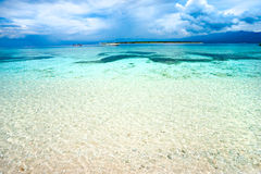 Beautiful sea at Gili Meno, Indonesia. Royalty Free Stock Photography
