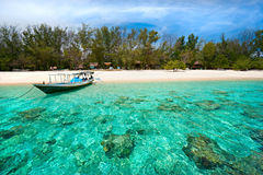 Beautiful sea at Gili Meno, Indonesia. Royalty Free Stock Photo
