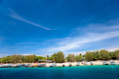 Beautiful sea at Gili Trawangan, Indonesia. Royalty Free Stock Photo
