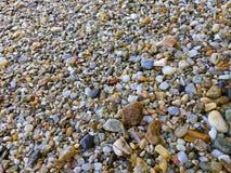 Sea glass at the Mediteranean beach in Greece stock photos