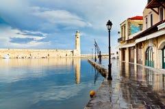 Beautiful Sea harbor. Greece, Grete. Royalty Free Stock Image