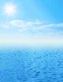 Beautiful sea horizon with clouds above it Stock Photography