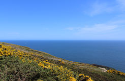 Beautiful Sea, Howth, Dublin Bay, Ireland, Rocks, Cliff and Stones Royalty Free Stock Image