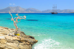 Beautiful sea at Koufonisia Pano islet, Small cyclades near Naxo Stock Photo