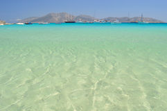 Beautiful sea at Koufonisia Pano islet, Small cyclades near Naxo Royalty Free Stock Image