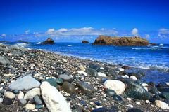 Beautiful Sea Landscape in front the Pacific Ocean Royalty Free Stock Image
