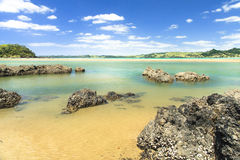 Beautiful sea landscape in New Zealand Royalty Free Stock Photo