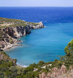 Beautiful sea landscape panorama of Crete Stock Image