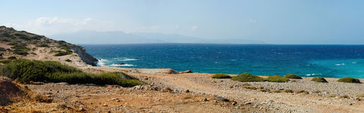 Beautiful sea landscape panorama of Crete Stock Photo