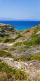 Beautiful sea landscape panorama of Crete Stock Images