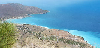 Beautiful sea landscape panorama of Crete Royalty Free Stock Image