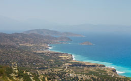 Beautiful sea landscape panorama of Crete, Greece Stock Image