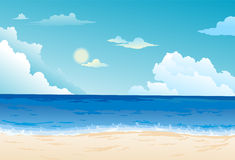 Beautiful sea landscape vector. Illustration of Beautiful sea landscape background Stock Photo