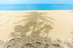 Beautiful sea landscape with white sandy beach Stock Images