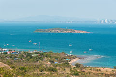Beautiful sea landscapes Island in Pattaya, Thailand Royalty Free Stock Image