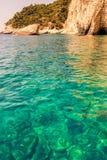Beautiful sea landscapes on Zakynthos Island Royalty Free Stock Photography