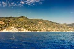 Beautiful sea landscapes on Zakynthos Island Stock Images