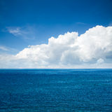 Beautiful Sea with Majestic Clouds Royalty Free Stock Image