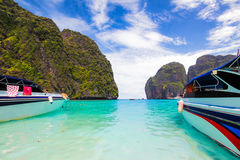 Beautiful sea at Maya Bay Stock Images