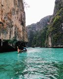 Beautiful sea and mountain. In Krabi, Thailand Stock Photography