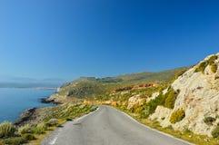 The beautiful sea near Chania, Crete island, Greece Royalty Free Stock Photos