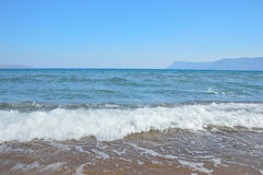 The beautiful sea near Chania, Crete island, Greece Stock Photography