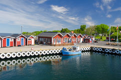 Beautiful sea port on Hano island Stock Photography