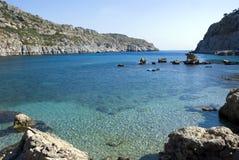 Beautiful sea between the rocks Stock Photography