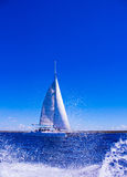 Beautiful sea and sailboat Royalty Free Stock Photography