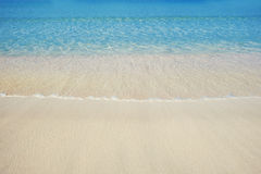 Beautiful sea sand beach in Dubai with turquoise water Stock Photography