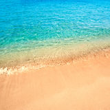 Beautiful Sea sand sky and summer day - Travel tropic resort wal Stock Images