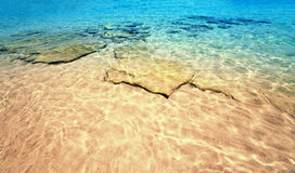 Beautiful Sea sand sky and summer day - Travel tropic resort wal Stock Photography