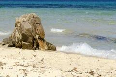 Beautiful sea in Sardinia. Beautiful sea in Sardegna - sand and rocks - Italy stock photo