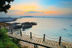 Beautiful sea scape in morning light of khao leam ya marine nati Stock Image