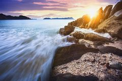 Beautiful sea scape of nyang oo phee island most popular traveli Stock Image