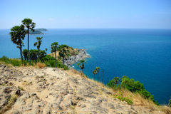 Beautiful sea scape at Promthep cape view point, Phuket, Thailan. D Royalty Free Stock Photography