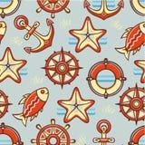 Beautiful sea seamless pattern. Stock Images