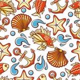 Beautiful sea seamless pattern. Royalty Free Stock Image