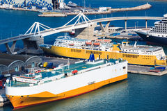 Beautiful sea ships Stock Photography