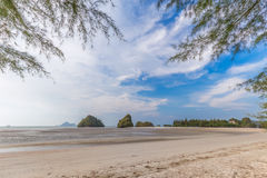 Beautiful Sea and Sky at Krabi Province, South of Thailand Stock Photos