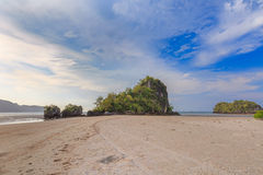 Beautiful Sea and Sky at Krabi Province, South of Thailand Royalty Free Stock Photos