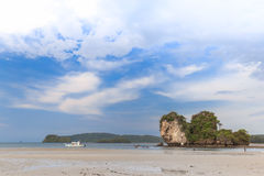 Beautiful Sea and Sky at Krabi Province, South of Thailand Royalty Free Stock Photo