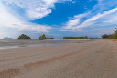 Beautiful Sea and Sky at Krabi Province, South of Thailand Royalty Free Stock Image