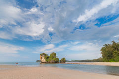 Beautiful Sea and Sky at Krabi Province, South of Thailand Stock Image