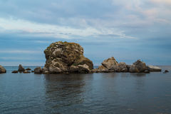 Beautiful sea sky and rocks Stock Image